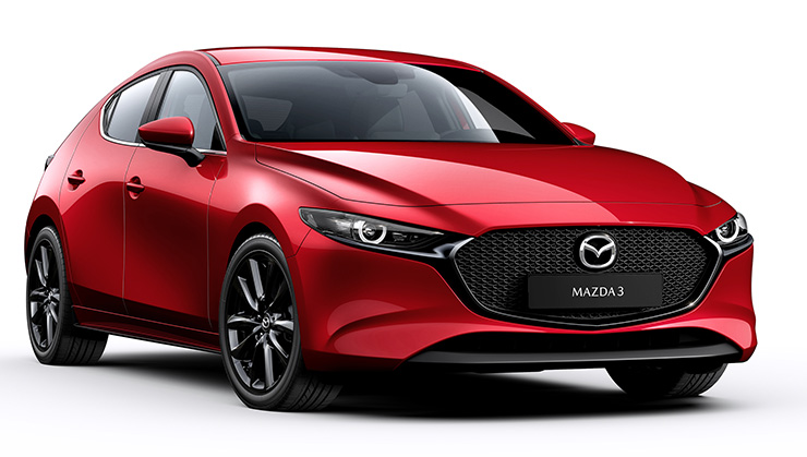 Der brandneue Mazda 3 bei Garage Comminot Chur